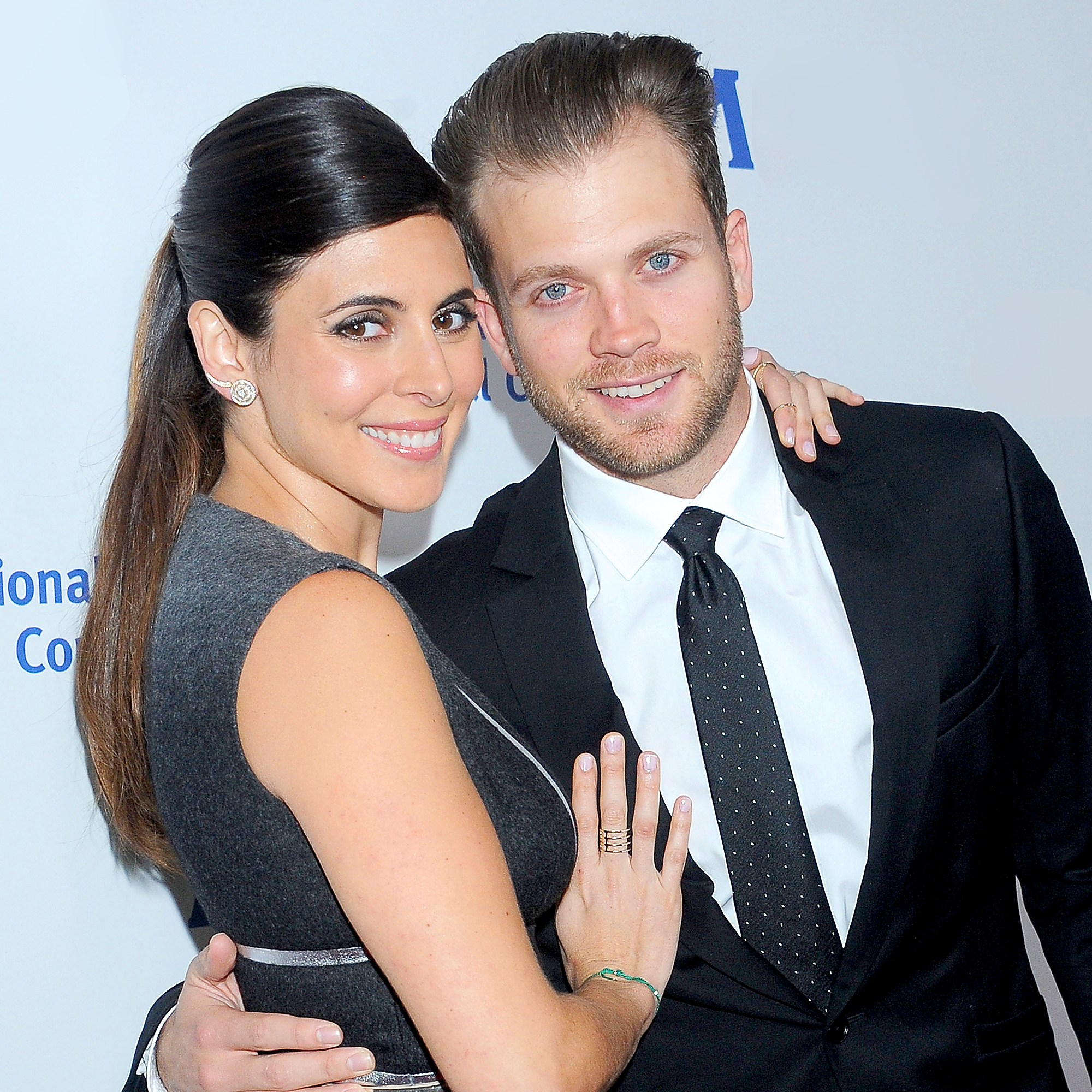 Jamie-Lynn Sigler and Cutter Dykstra arrive at the International Medical Corps' Annual Awards dinner ceremony at the Beverly Wilshire Four Seasons Hotel in Beverly Hills, California.