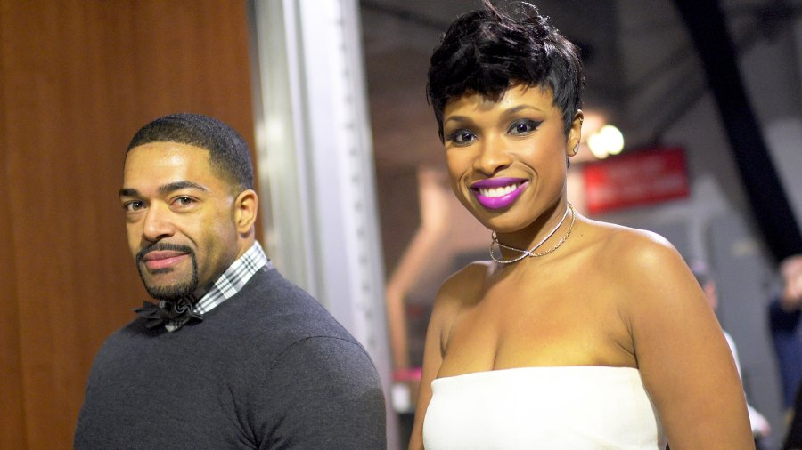 Jennifer Hudson and David Otunga attend The 57th Annual Grammy Awards at Staples Center in Los Angeles, California.