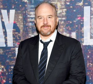 Louis C.K. attends SNL 40th Anniversary Celebration at Rockefeller Plaza on February 15, 2015 in New York City.