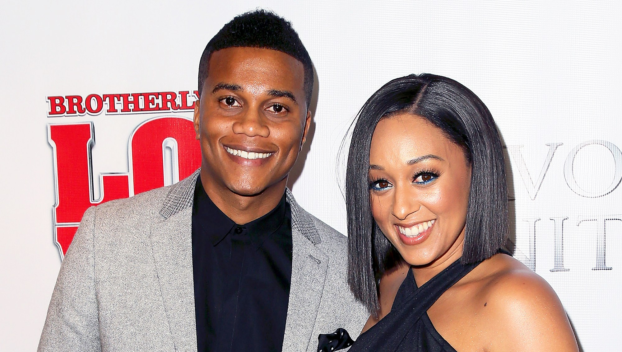 """Cory Hardrict and Tia Mowry attend the premiere of """"Brotherly Love"""" at SilverScreen Theater in West Hollywood, California."""