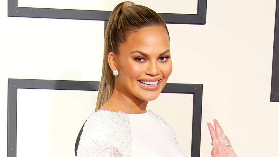 Chrissy Teigen attends The 58th Grammy Awards at Staples Center in Los Angeles, California.