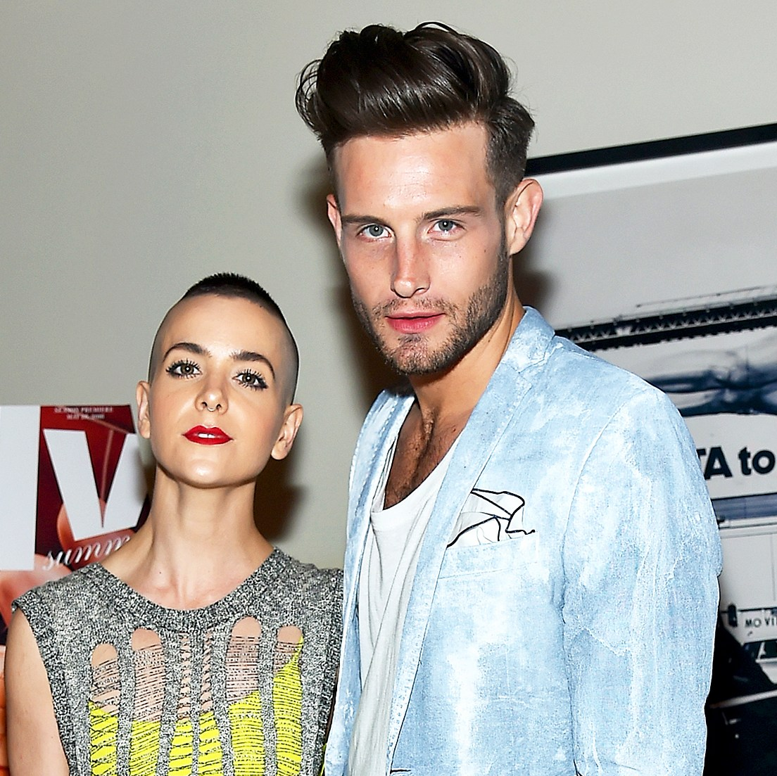 Bethany Meyers and Nico Tortorella attend the The Daily's Summer premiere party at the Smyth Hotel in New York City.