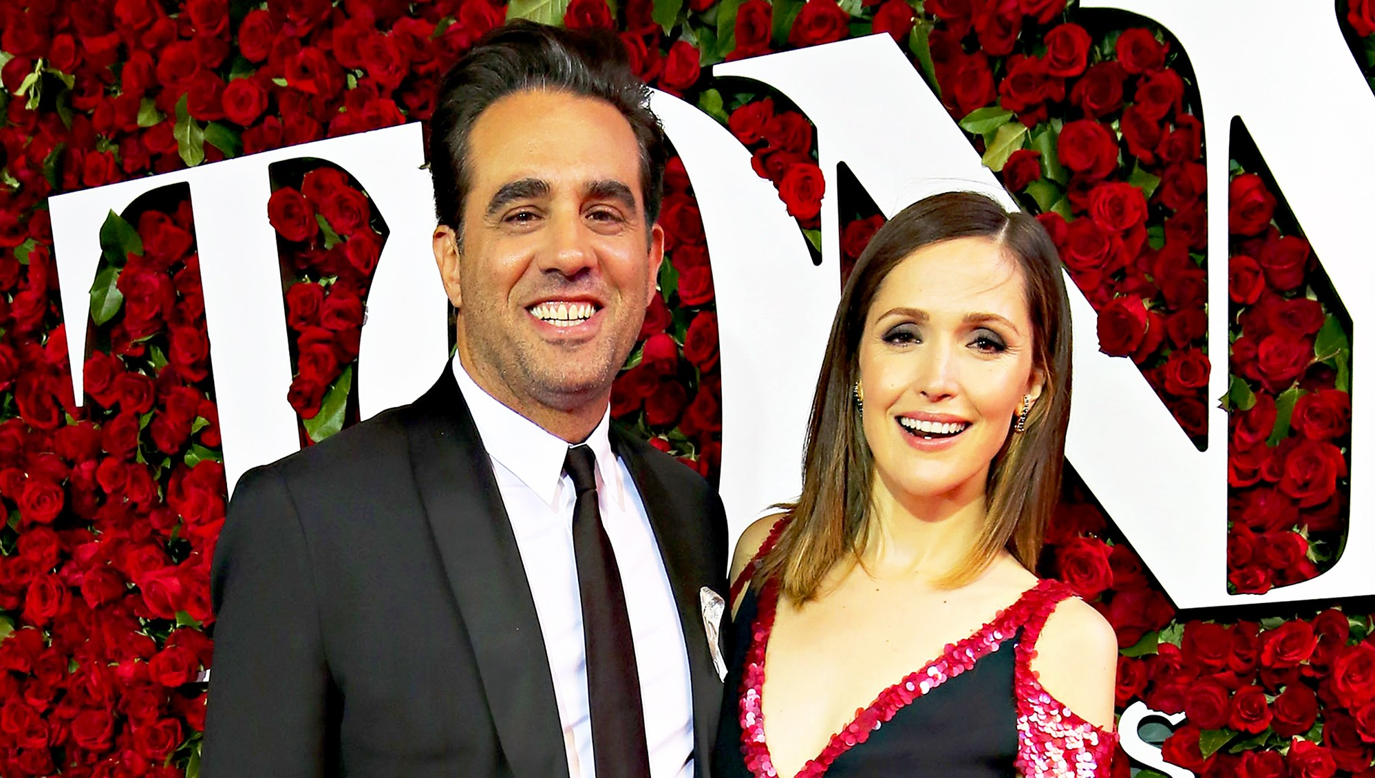 Bobby Cannavale and Rose Byrne attend the 70th Annual Tony Awards at The Beacon Theatre in New York City.