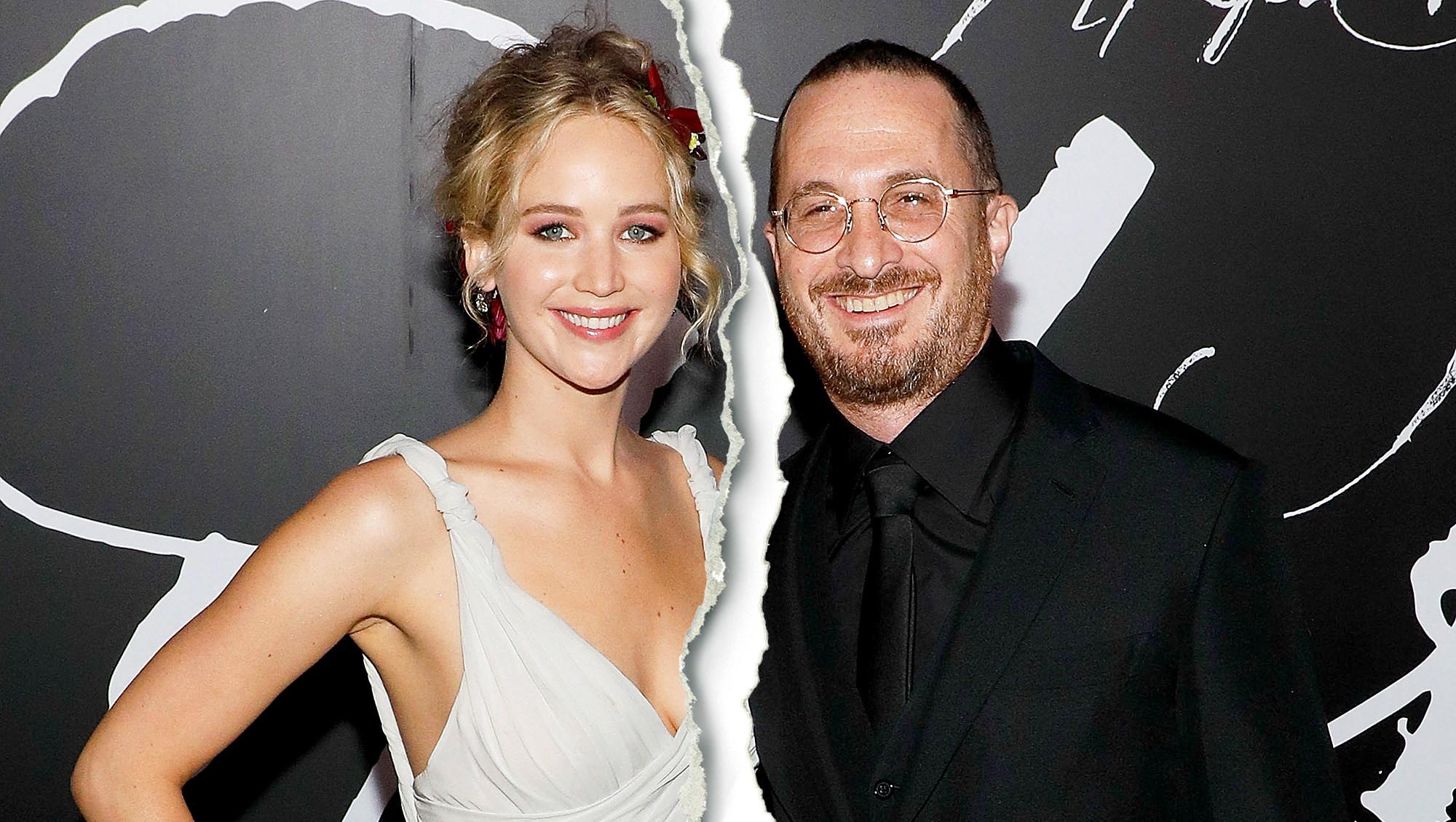 "Jennifer Lawrence and Darren Aronofsky attend the premiere of ""mother!"" at Radio City Music Hall on September 13, 2017 in New York City."