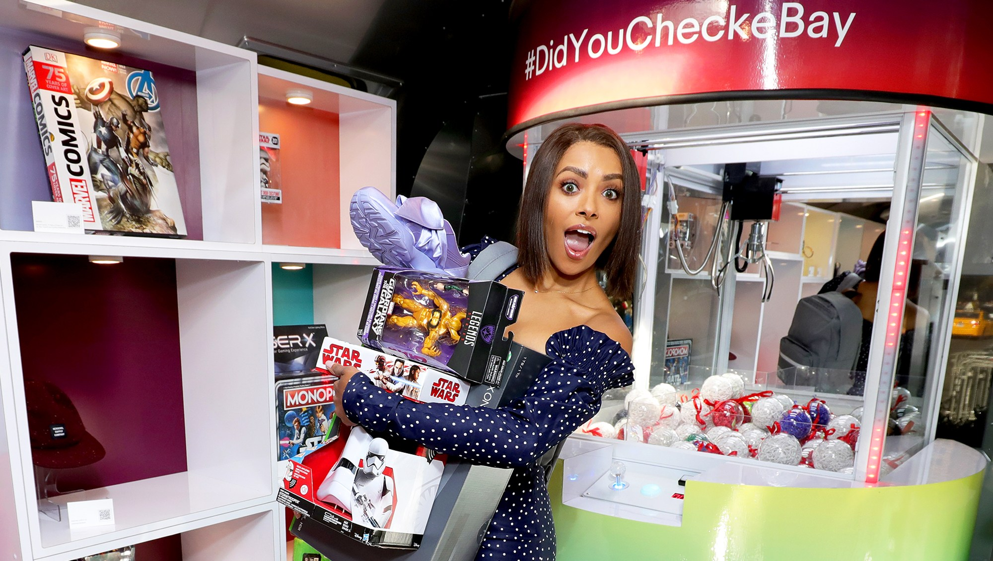 """Kat Graham at the """"Did You Check eBay?"""" Holiday Deals Airstream Tour in New York City at Greely Square Park on November 24, 2017."""