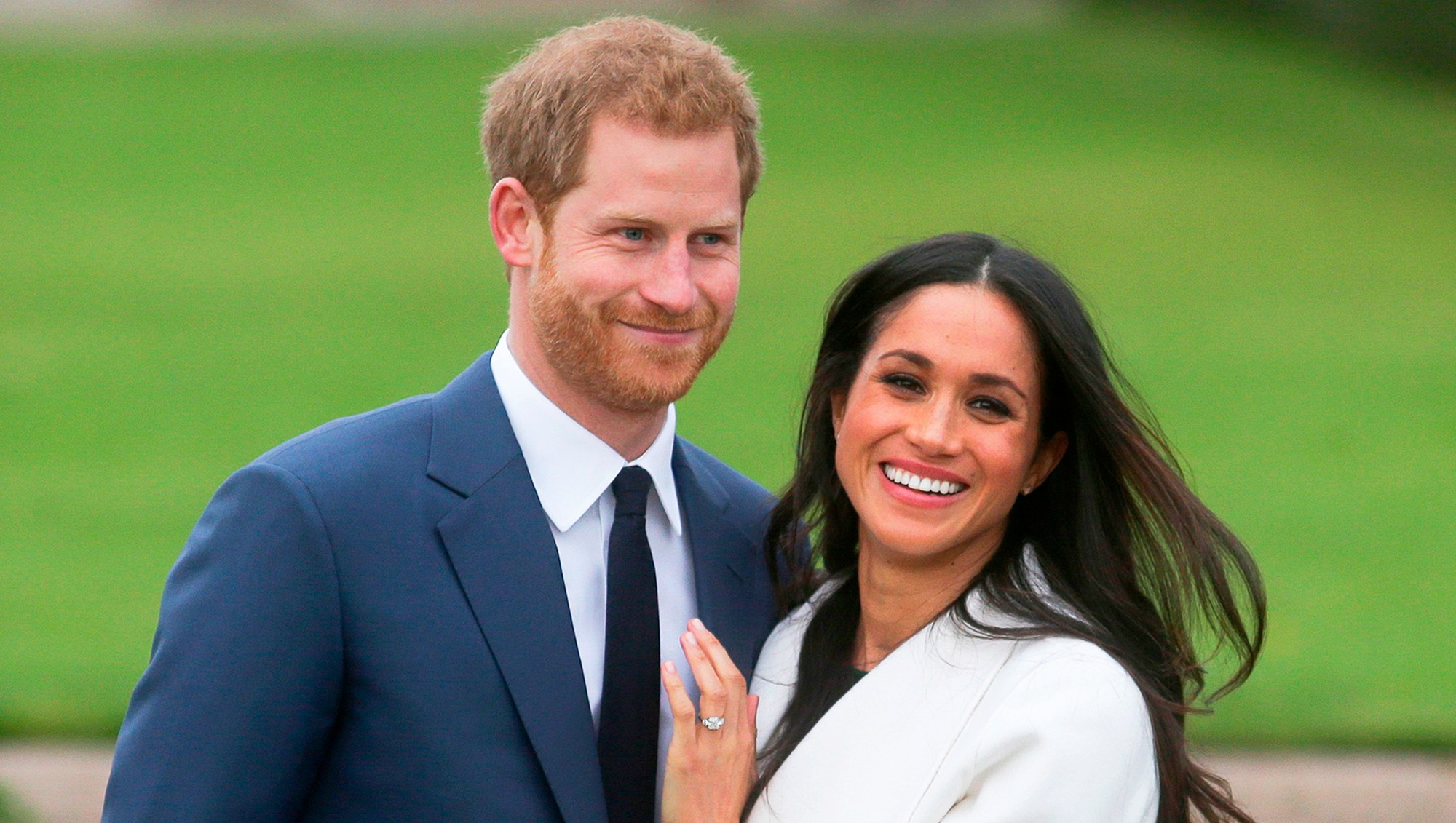 Prince Harry and Meghan Markle attend an official photocall to announce their engagement at The Sunken Gardens at Kensington Palace on November 27, 2017 in London, England.