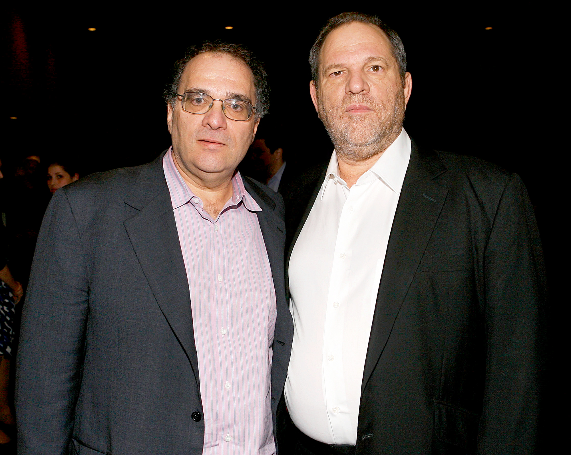 Bob Weinstein and Harvey Weinstein attends the New York premiere of Dimension Films&#039