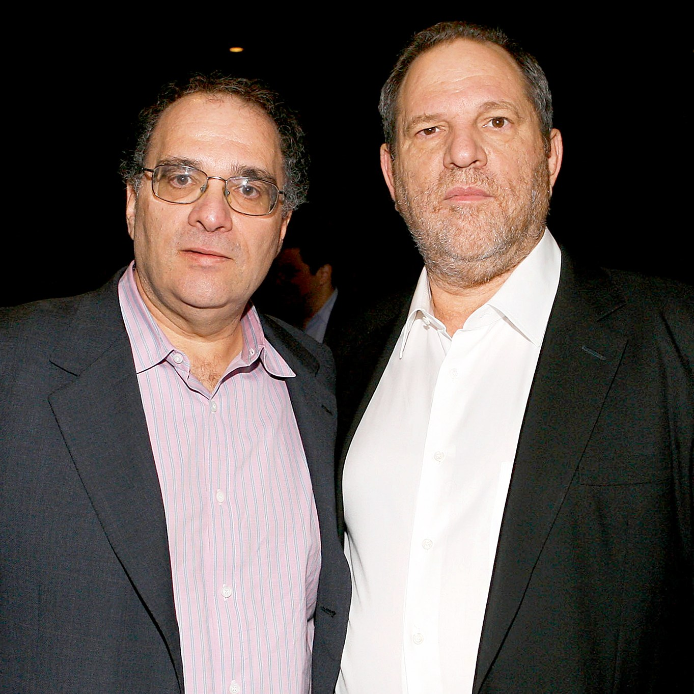 "Bob Weinstein and Harvey Weinstein attends the New York premiere of Dimension Films' ""The Road"" at Clearview Chelsea Cinemas on November 16, 2009 in New York City."