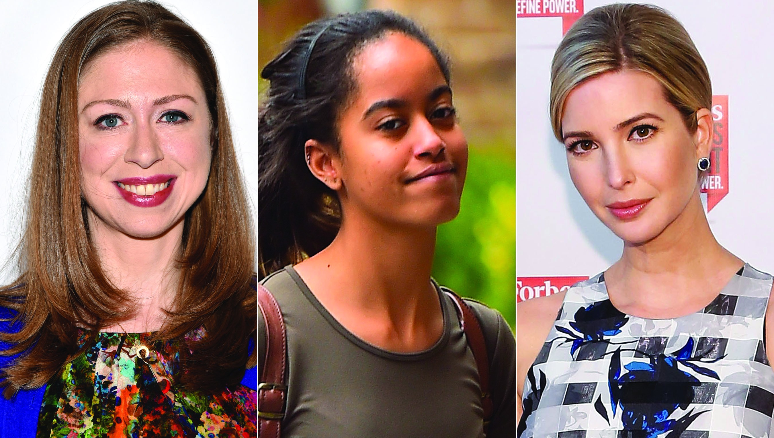 Chelsea Clinton, Malia Obama and Ivanka Trump