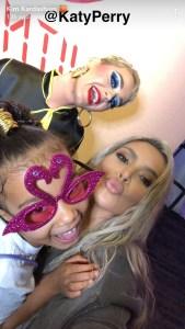 Kim Kardashian, Katy Perry, North West, Snapchat