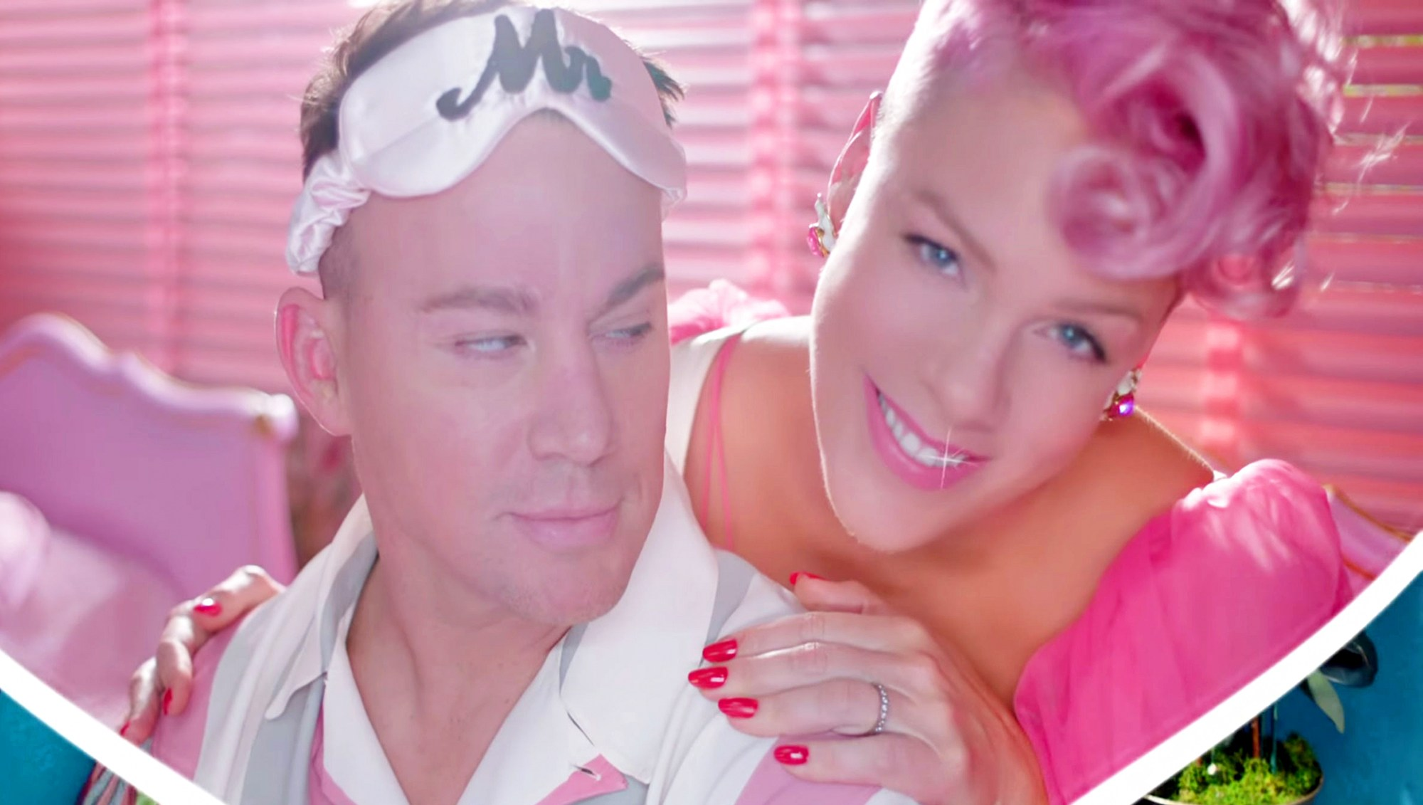 Pink and Channing Tatum in Beautiful Trauma music video