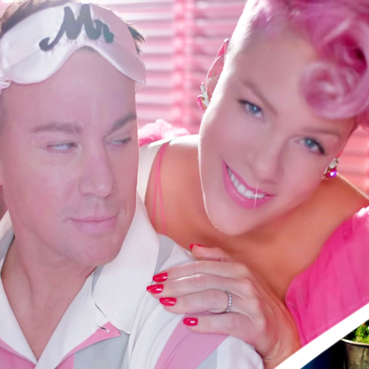 Pink and Channing Tatum in Beautiful Trauma music video