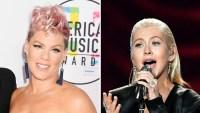 Pink Christina Aguilera AMAs 2017