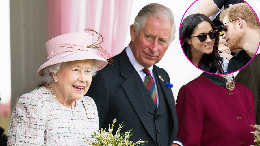 Queen Elizabeth Prince Charles Meghan Markle Prince Harry