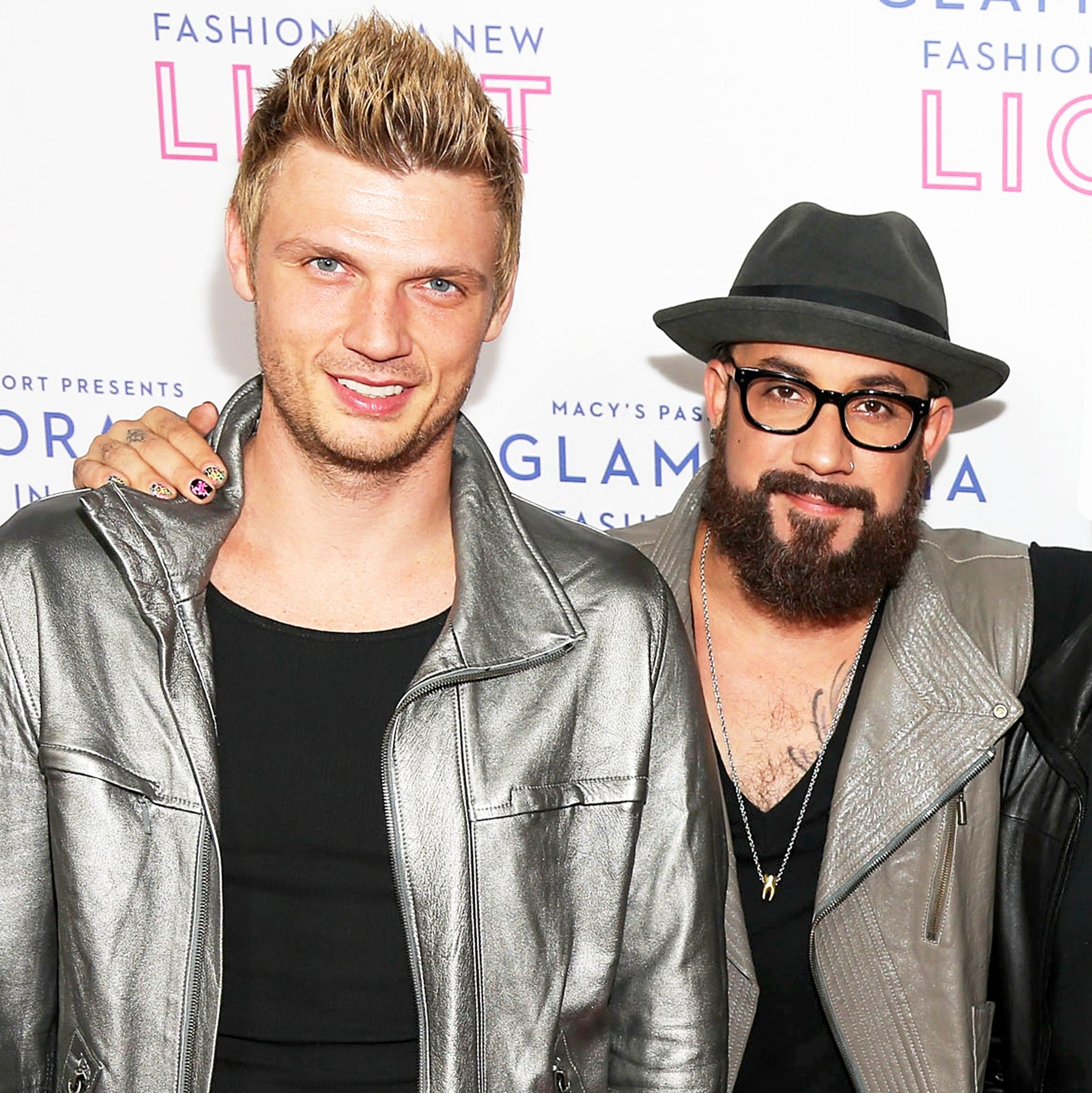 Nick Carter and AJ McLean of Backstreet Boys attend Glamorama presented by Macy's Passport at Orpheum Theatre in Los Angeles, California.