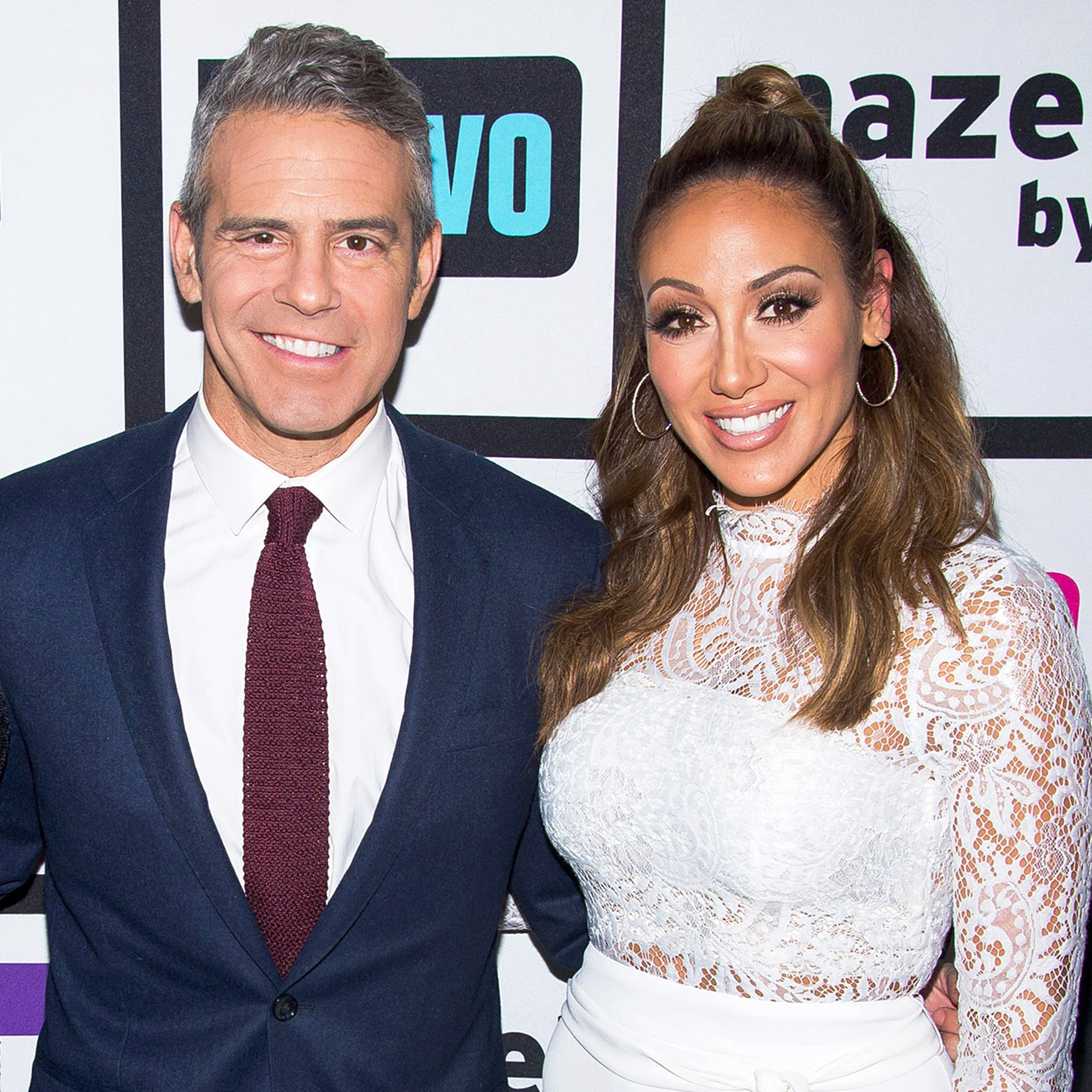 Andy Cohen and Melissa Gorga on 'Watch What Happens Live'