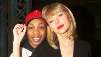 "Todrick Hall and Taylor Swift pose backstage at the musical ""Kinky Boots"" on Broadway at The Al Hirschfeld Theater on November 23, 2016 in New York City."