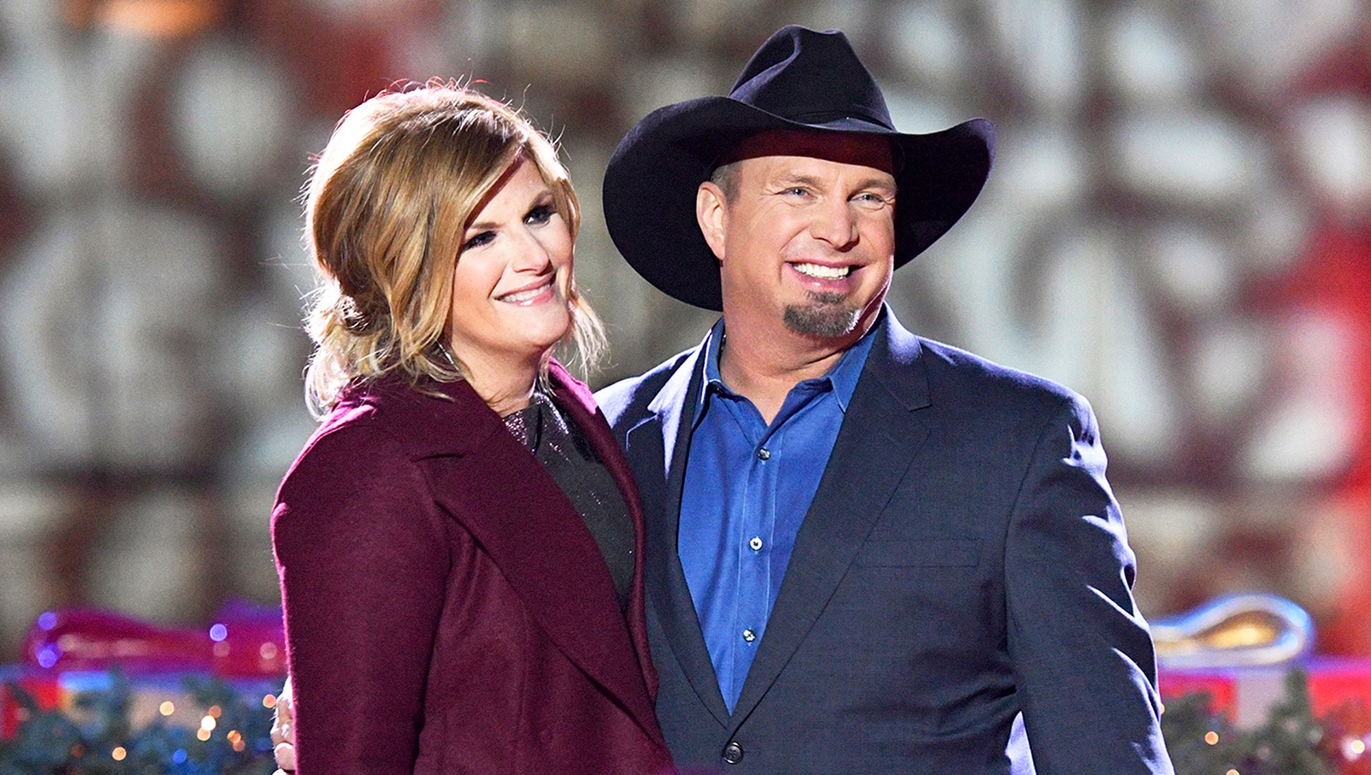 Trisha Yearwood and Garth Brooks attend the 2016 Christmas at Rockefeller Center in New York City.