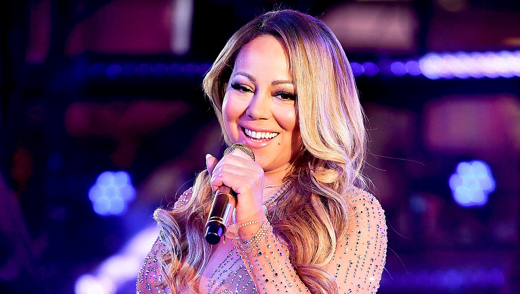 Mariah Carey performs during New Year's Eve 2017 in Times Square on December 31, 2016 in New York City.