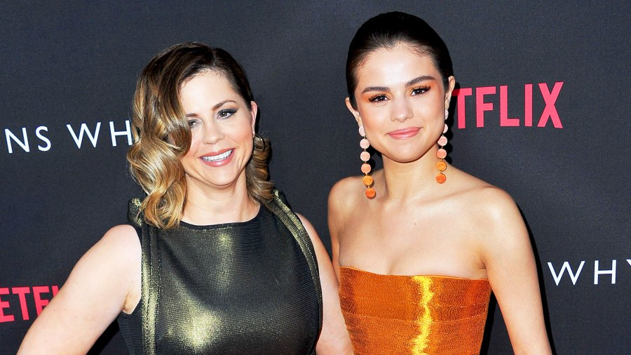 """Mandy Teefey and Selena Gomez attend the Premiere of Netflix's """"13 Reasons Why"""" at Paramount Pictures on March 30, 2017 in Los Angeles, California."""