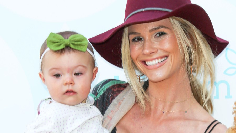 Meghan King Edmonds and her daughter Aspen attends the 6th Annual Celebrity Red CARpet Safety Awareness event at Sony Studios Commissary in Culver City, California.