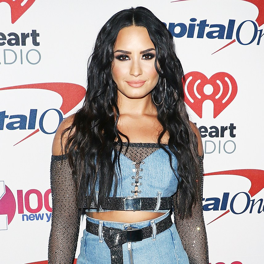 Demi Lovato iHeartRadio Jingle Ball double denim