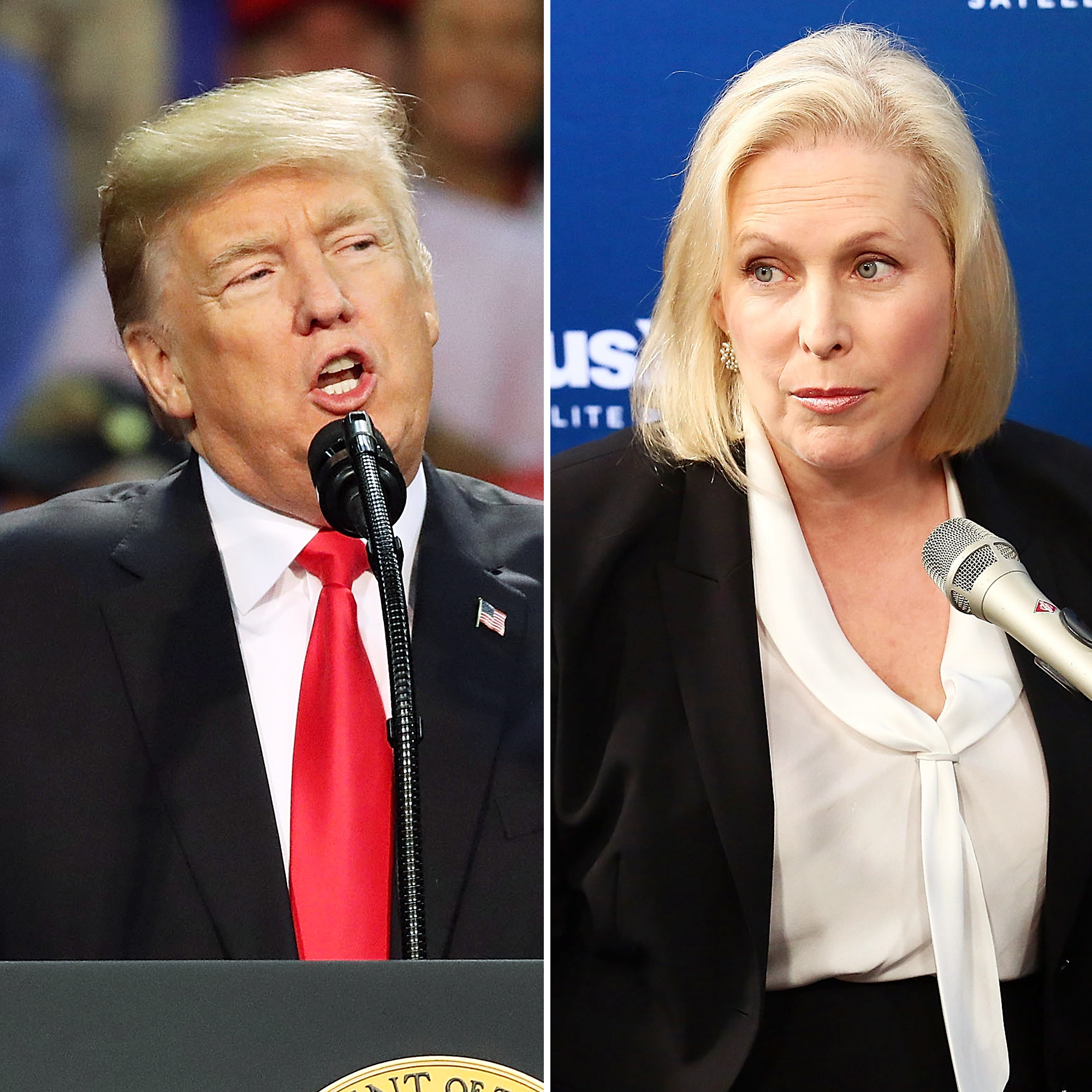 Donald Trump and Kirsten Gillibrand