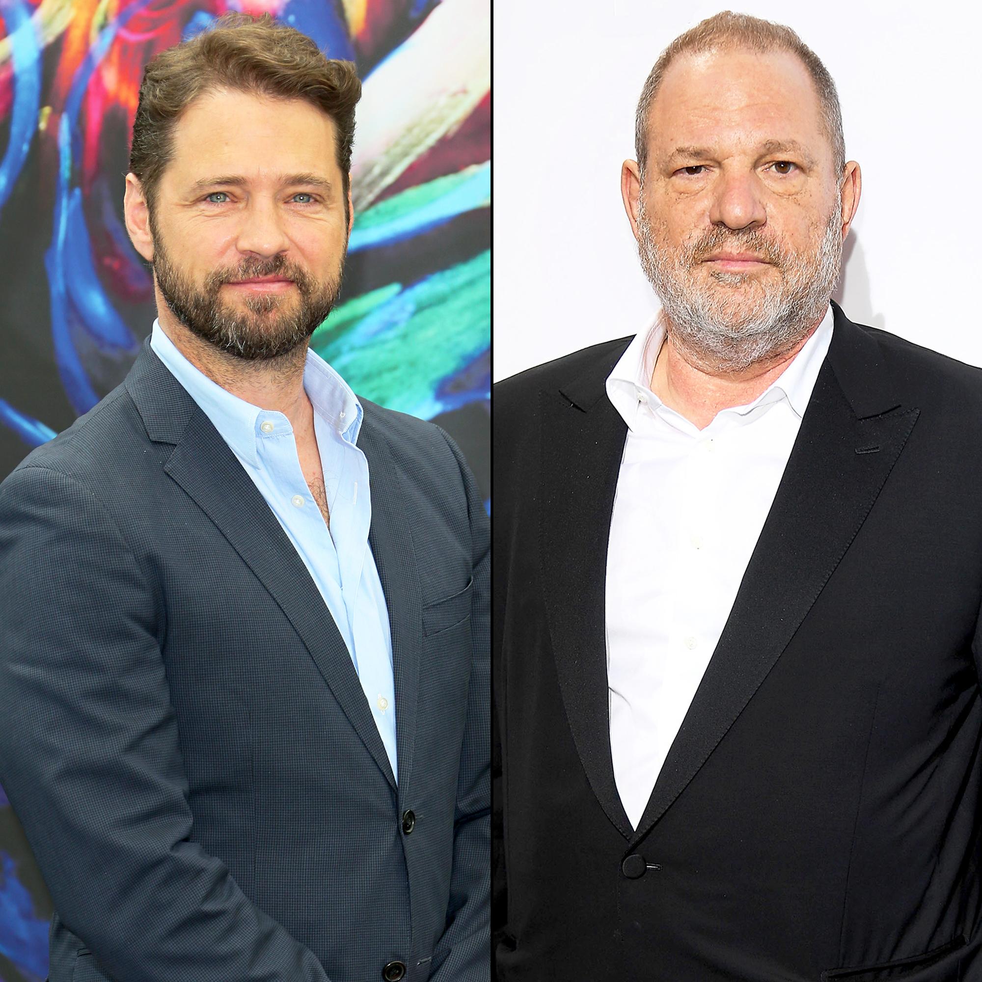 Jason Priestley and Harvey Weinstein