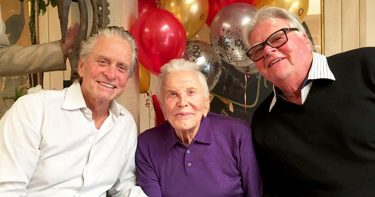 Kirk Douglas Celebrates His 101st Birthday With Family