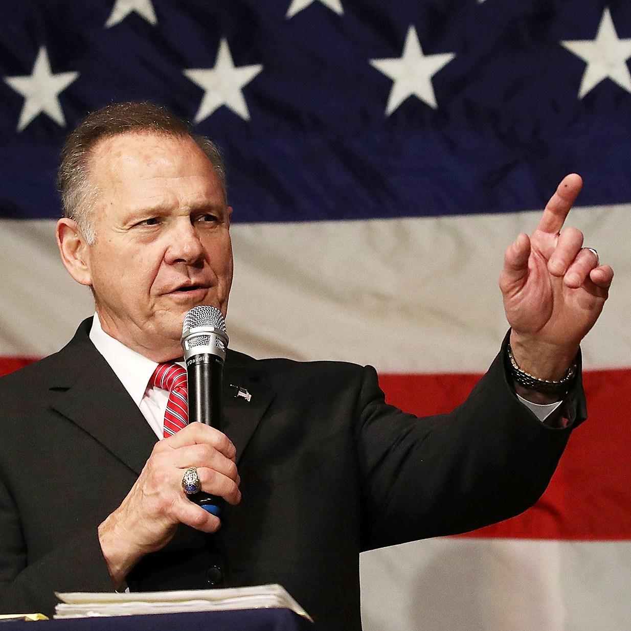 Republican Senatorial candidate Roy Moore