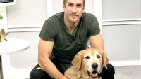 Shawn Booth and his golden retriever