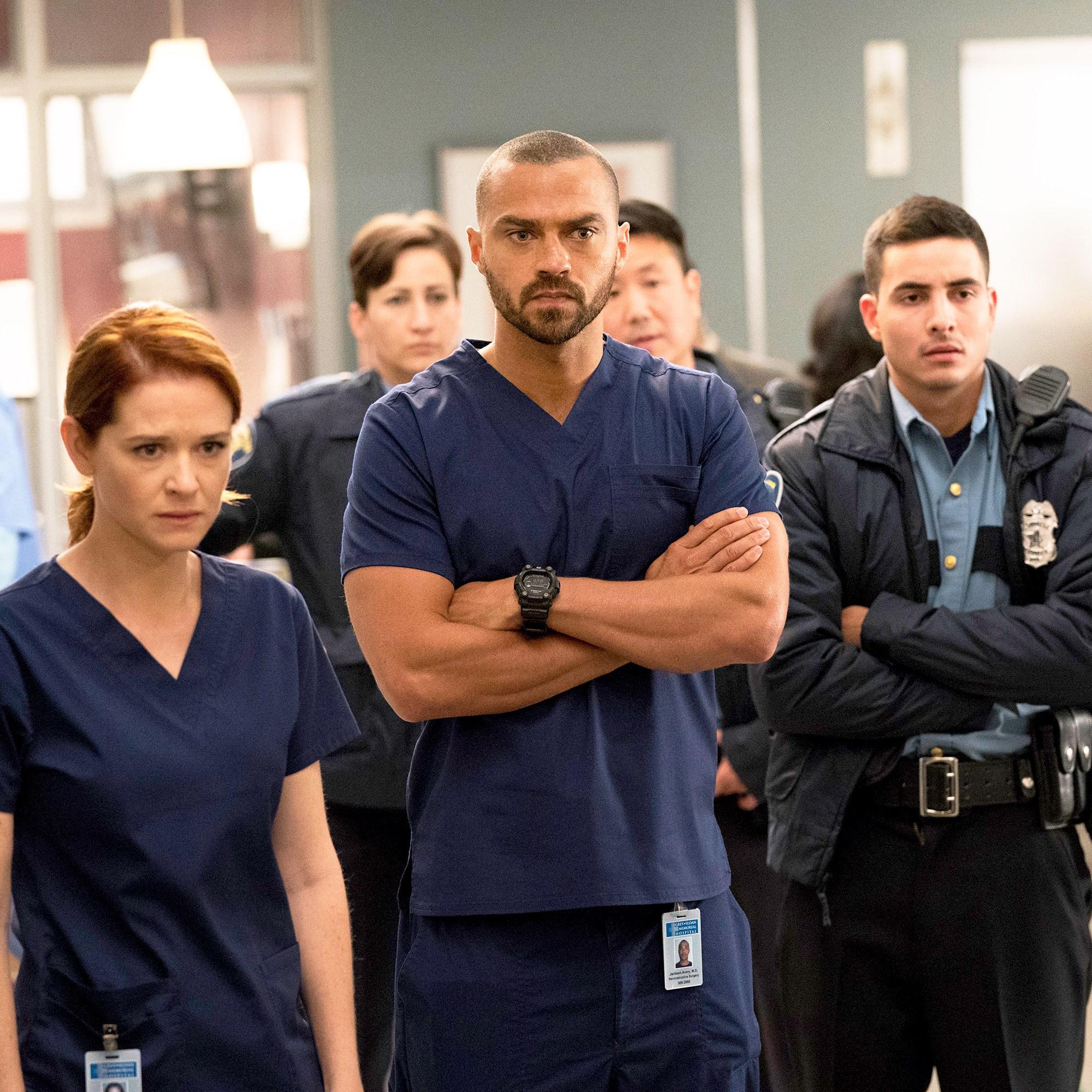 Sara Drew, Jesse Williams and Santiago Segura in 'Grey's Anatomy'