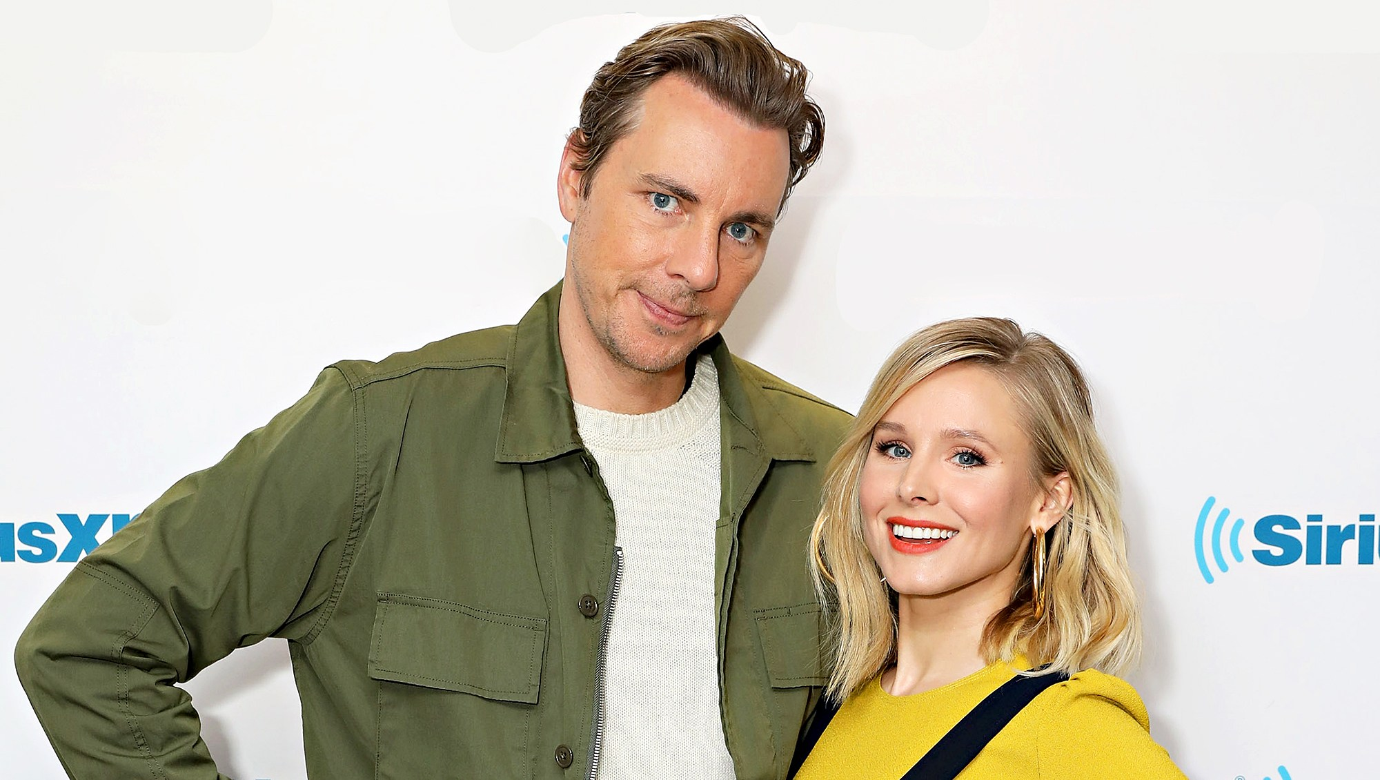 Dax Shepard and Kristen Bell visit the SiriusXM Studios on March 22, 2017 in New York City.