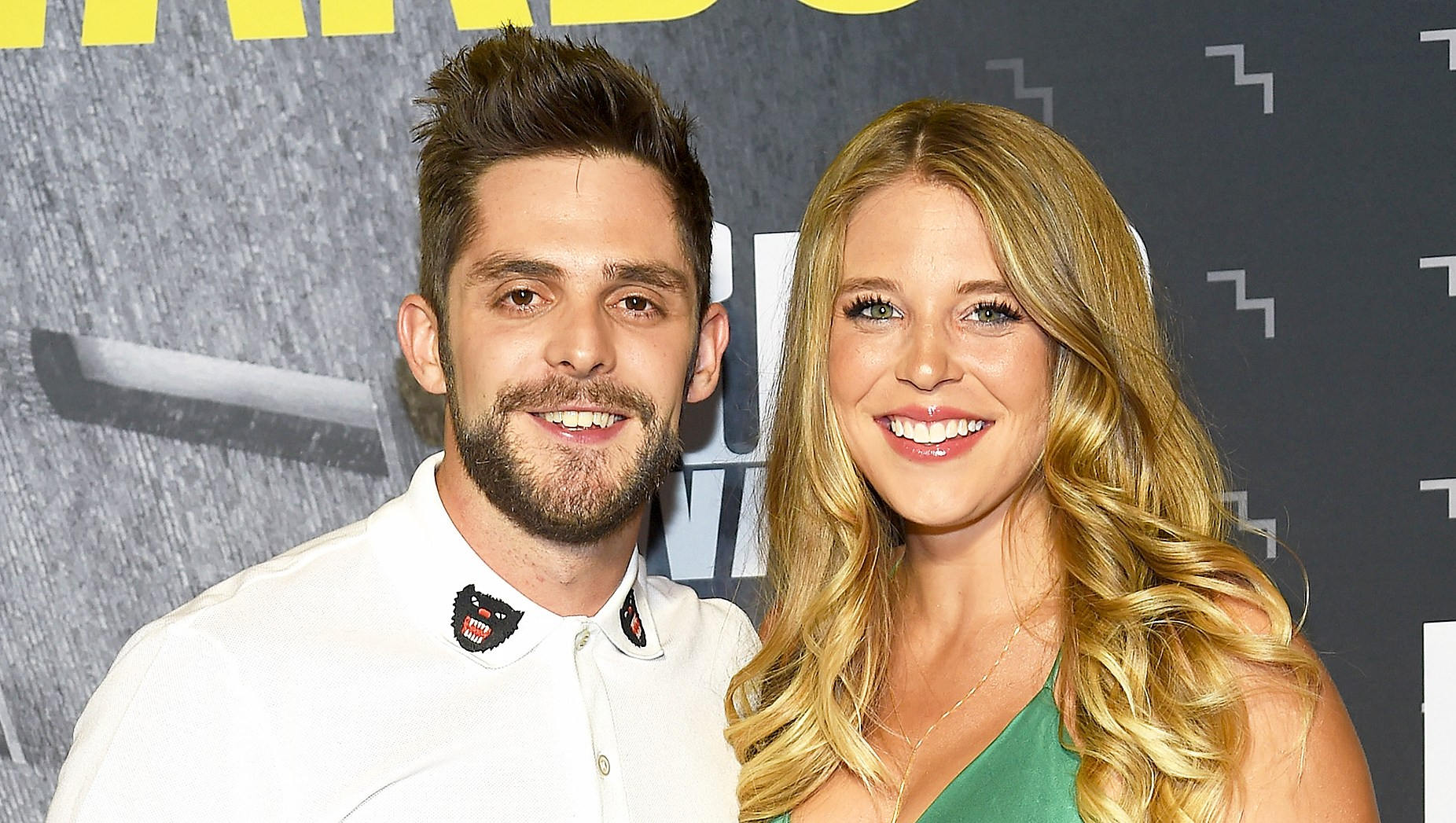 Thomas Rhett and wife Lauren Akins attend the 2017 CMT Music Awards at the Music City Center in Nashville, Tennessee.