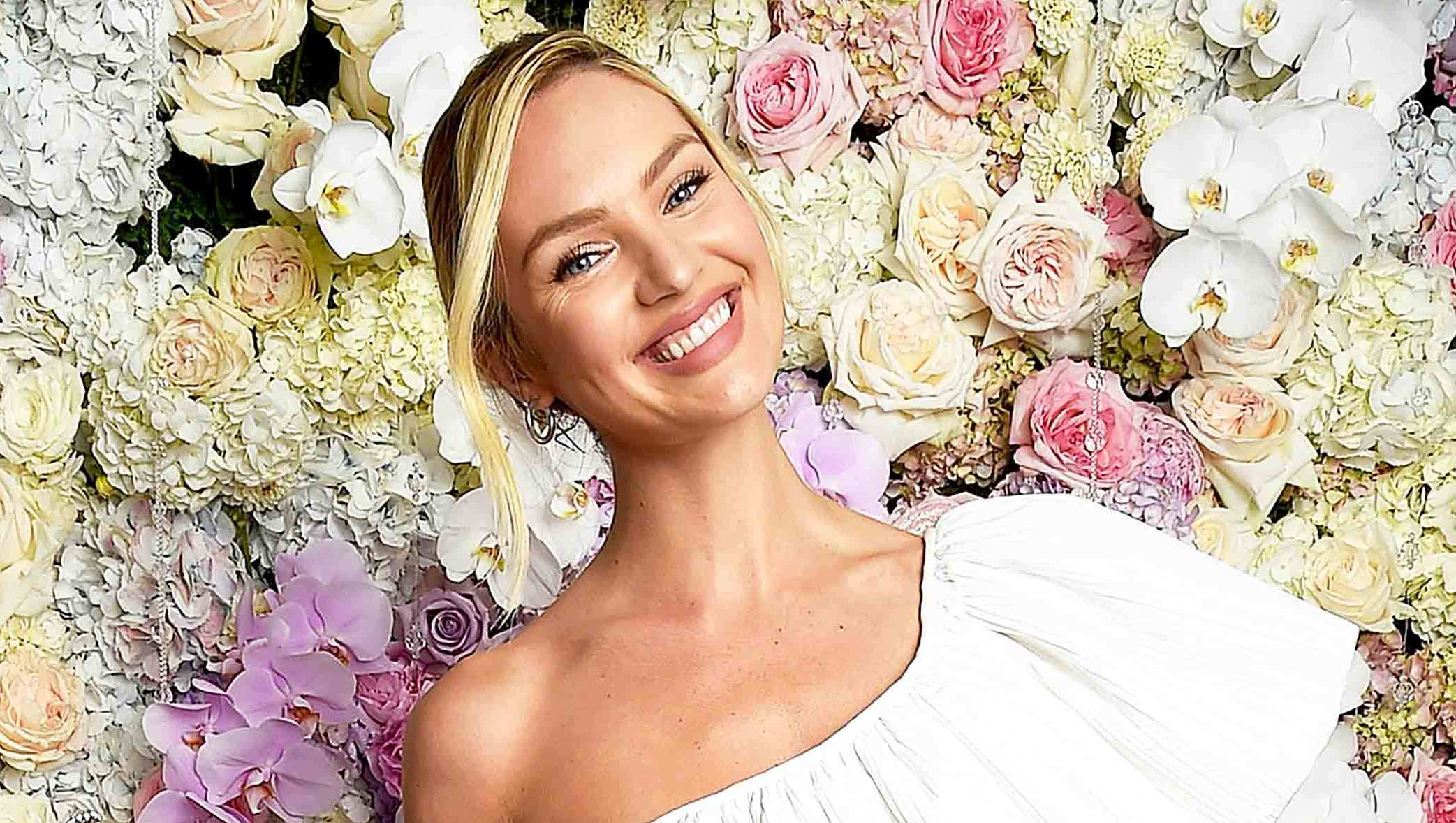 Candice Swanepoel launches Viva La Juicy Glace fragrance at The Edition Hotel in July 2017 in New York City.