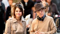 Selena Gomez and Woody Allen seen on location for Woody Allen's A Rainy Day in New York on September 11, 2017 in New York City.