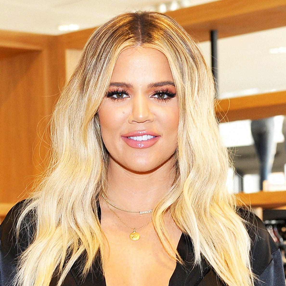Khloe Kardashian attends Good American Anniversary Celebration With Khloe Kardashian & Emma Grede at Nordstrom Century City on October 7, 2017 in Los Angeles, California.
