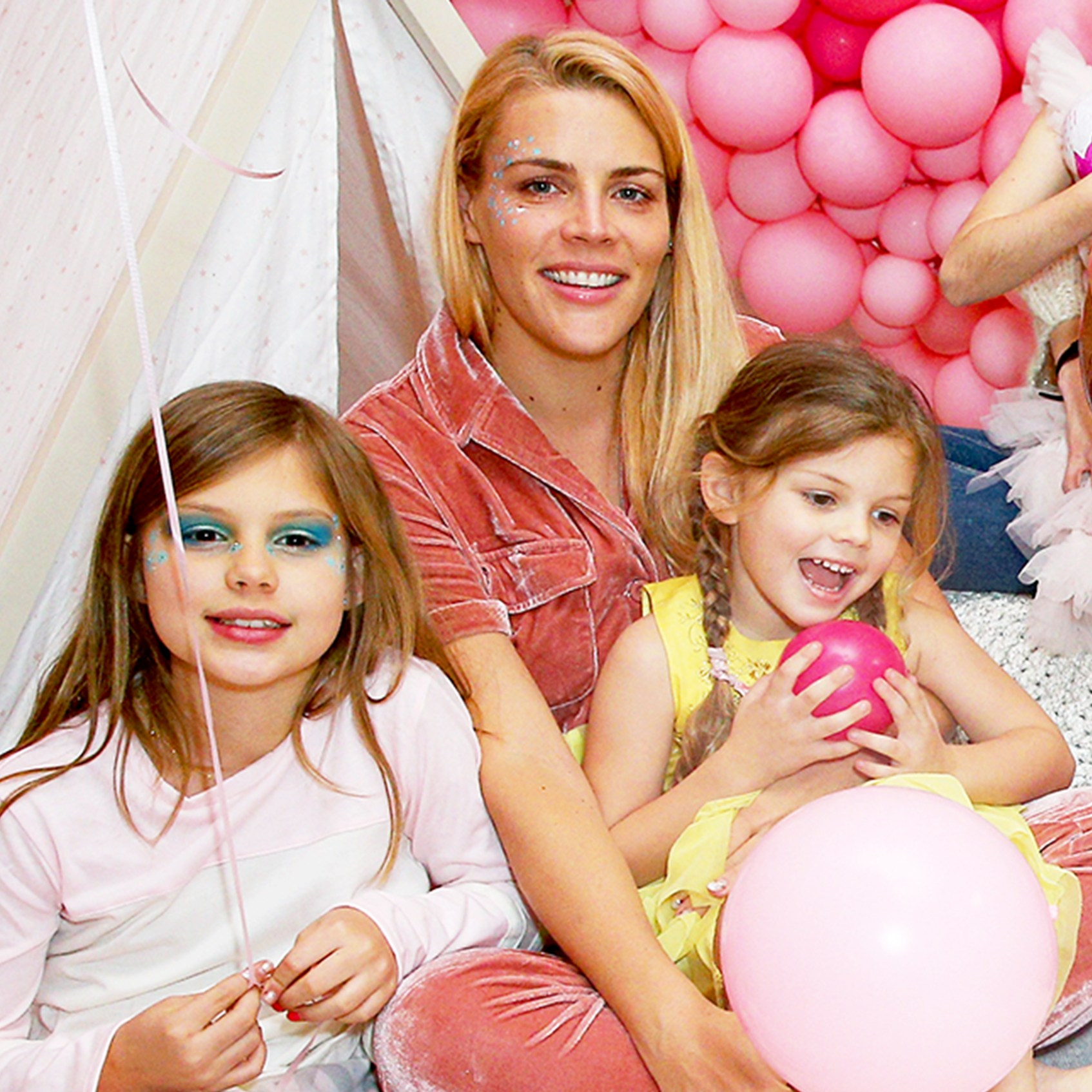 Busy Philipps with her daughters Cricket and Birdie attend L.O.L. Surprise! NYE Party Hosted by Busy Phillips & Sara Foster with daughters in Los Angeles, California.