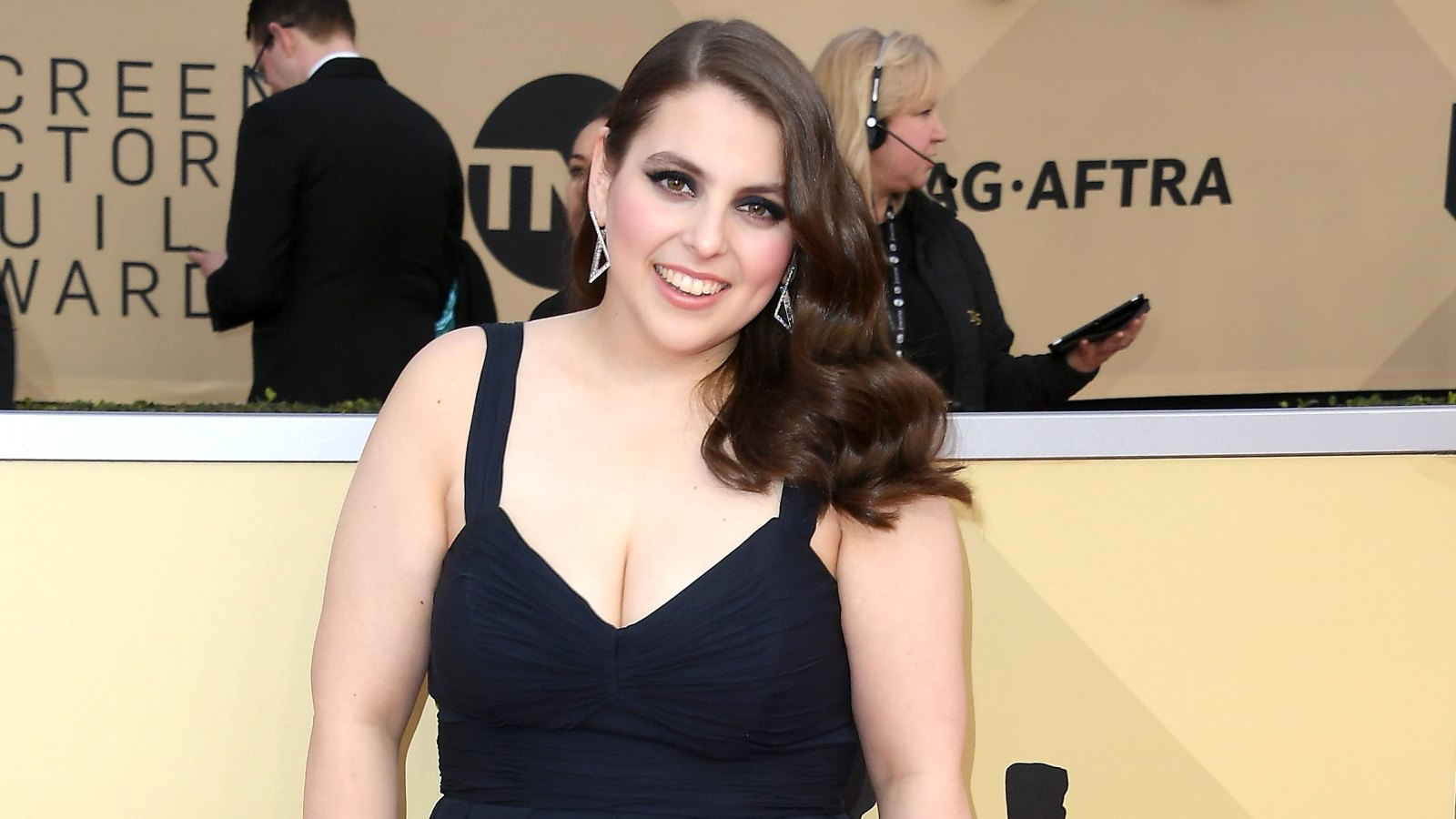 2e2849f3af1 Cutest Thing You ll See All Day  Beanie Feldstein Wore Her Real-Life Prom  Dress to the SAG Awards 2018