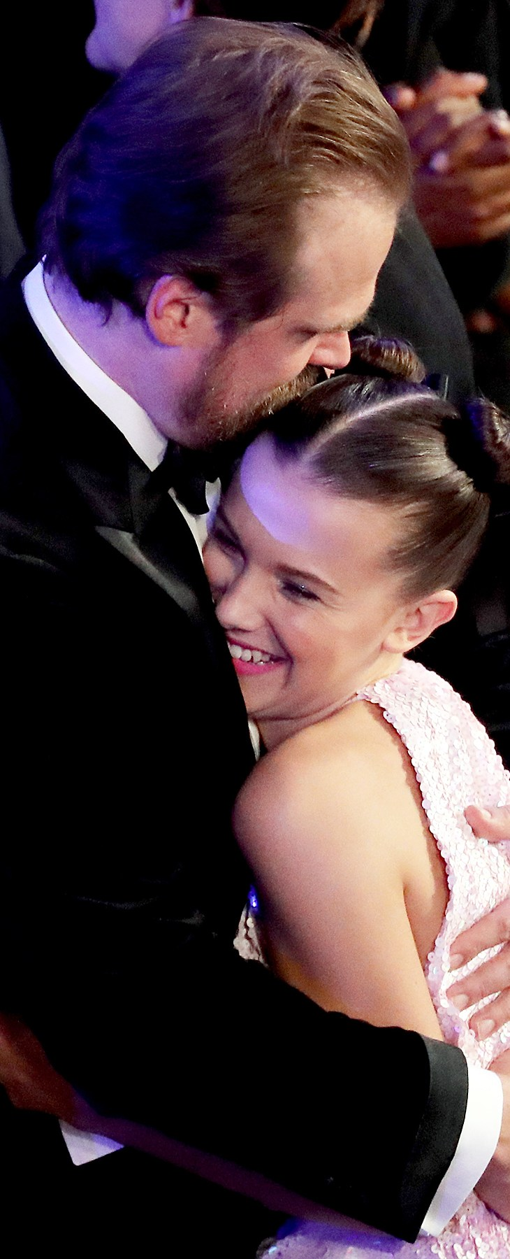 David Harbour Millie Bobby Brown SAGs 2018 audience