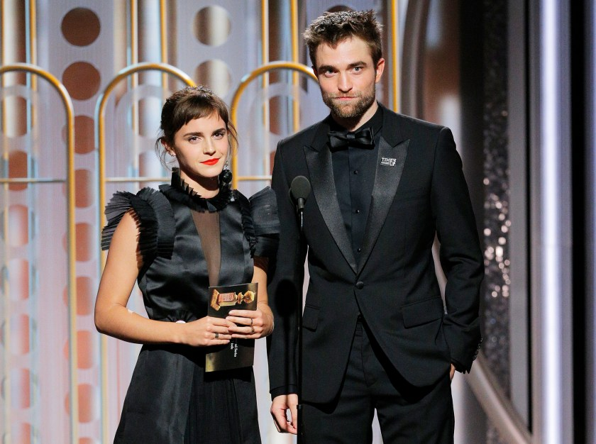Emma Watson Robert Pattinson Golden Globes 2018
