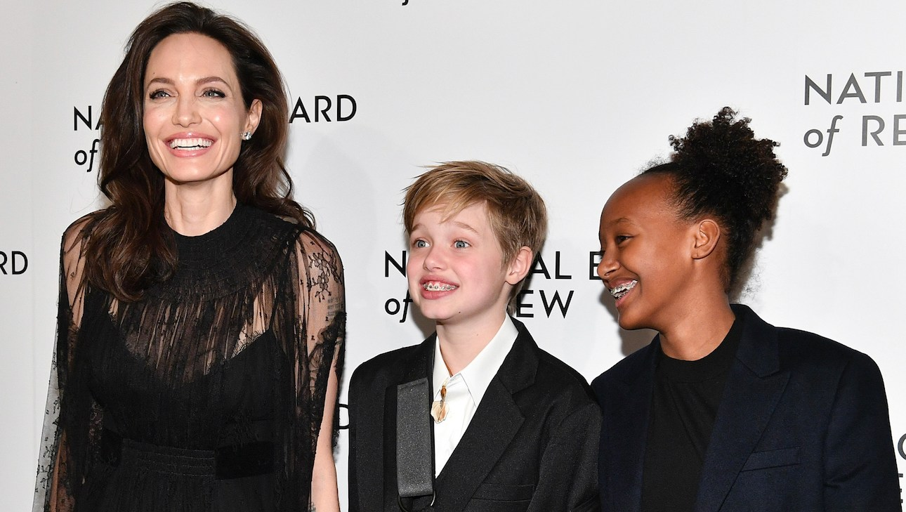 Angelina Jolie, Shiloh and Zahara Jolie-Pitt