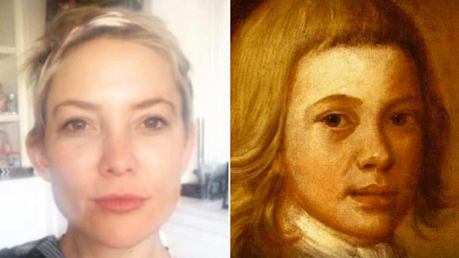 Celebrities share hilarious google arts app famous portrait painting doppelgangers