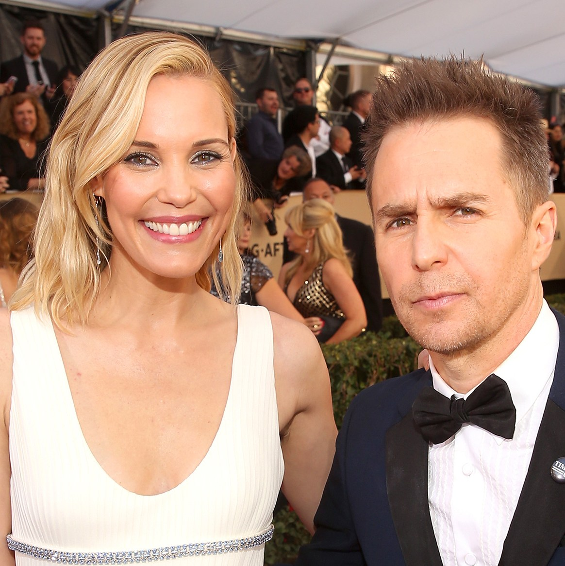 Leslie Bibb and Sam Rockwell