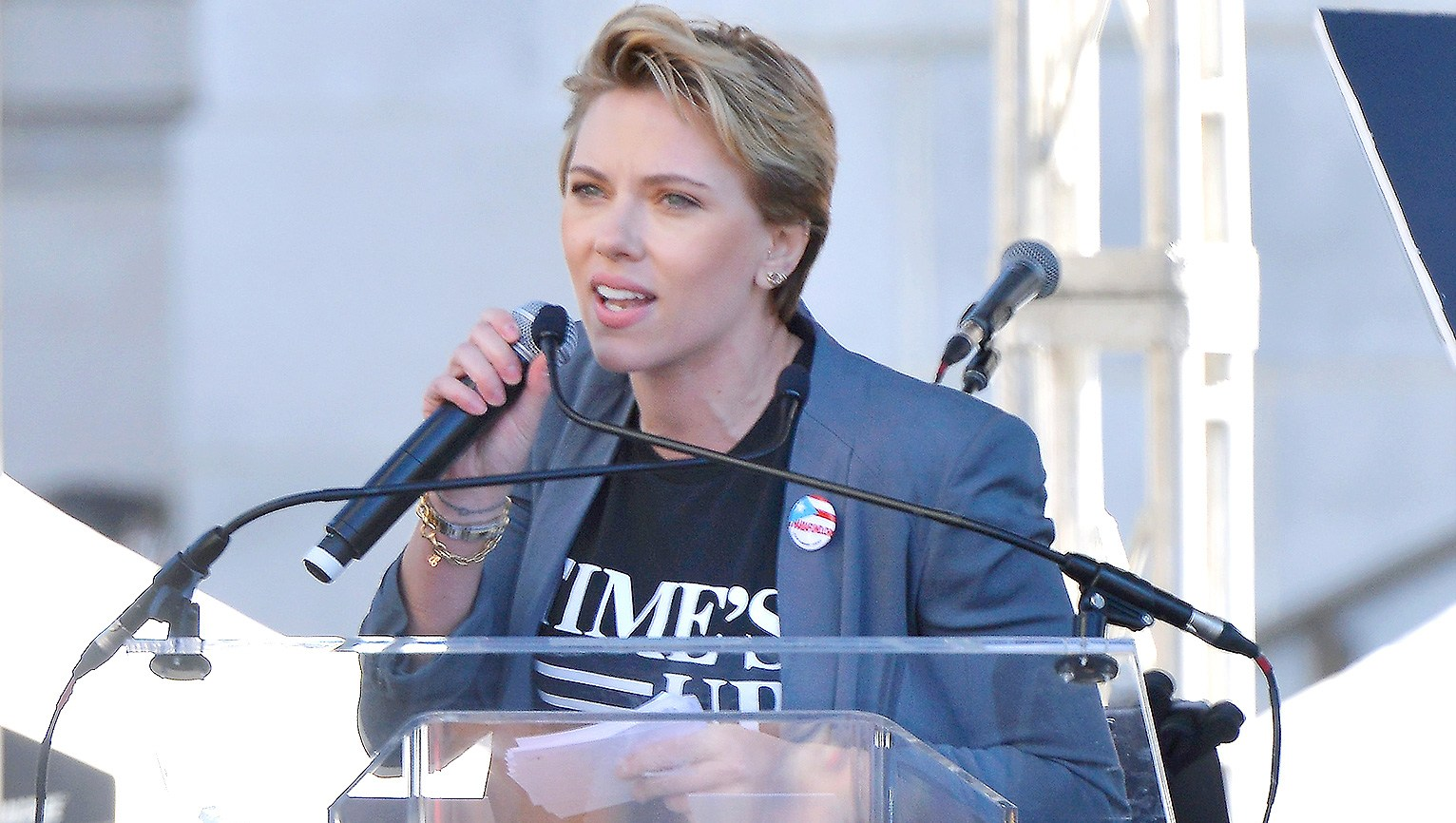 Scarlett Johansson, Women's March 2018, James Franco, Time's Up