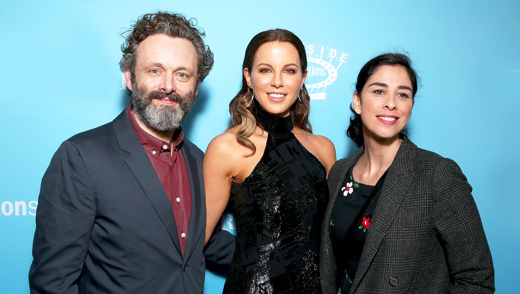 "Michael Sheen, Kate Beckinsale and Sarah Silverman attend the 2016 premiere of ""Love & Friendship"" at the Directors Guild of America in Los Angeles, California."