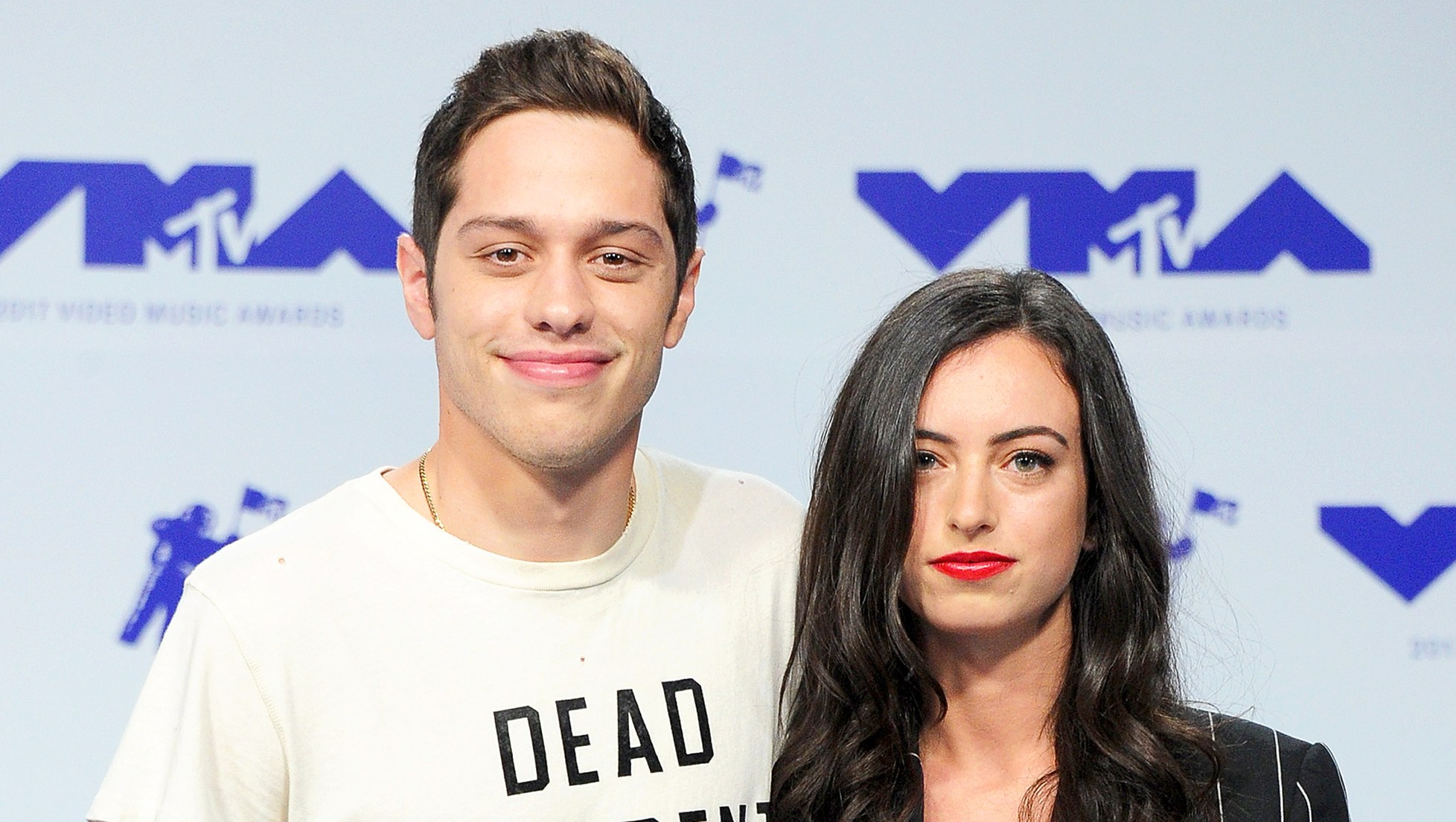 Pete Davidson and Cazzie David attend the 2017 MTV Video Music Awards at The Forum in Inglewood, California.