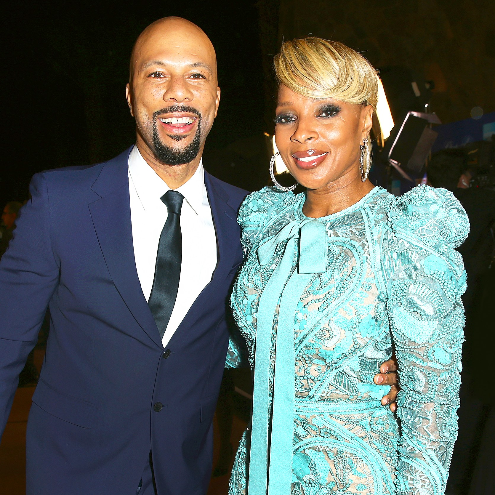 Common and Mary J. Blige attend the 29th Annual Palm Springs International Film Festival Awards Gala at Convention Center in Palm Springs, California.