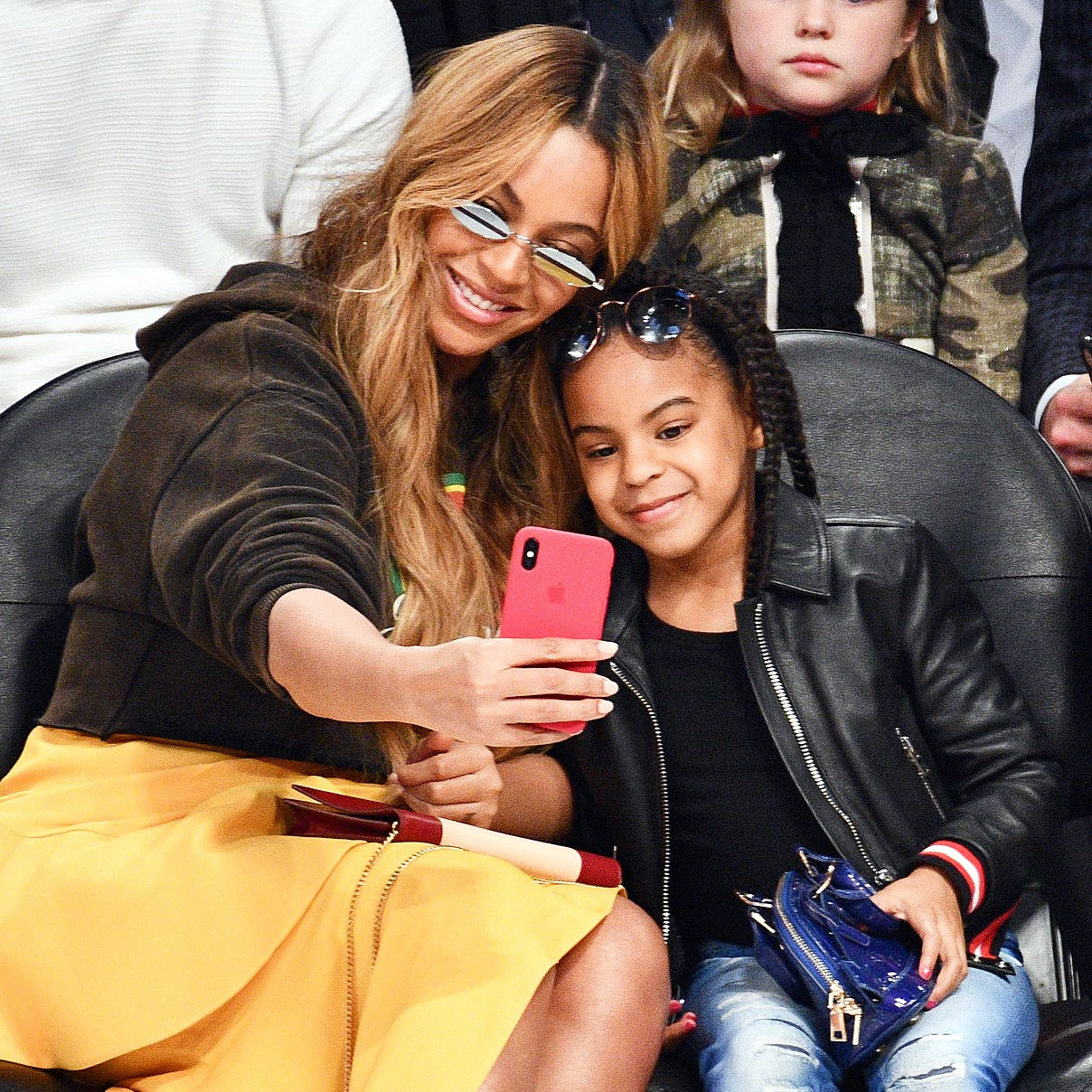 Beyonce Blue Ivy selfie NBA All-Star Game
