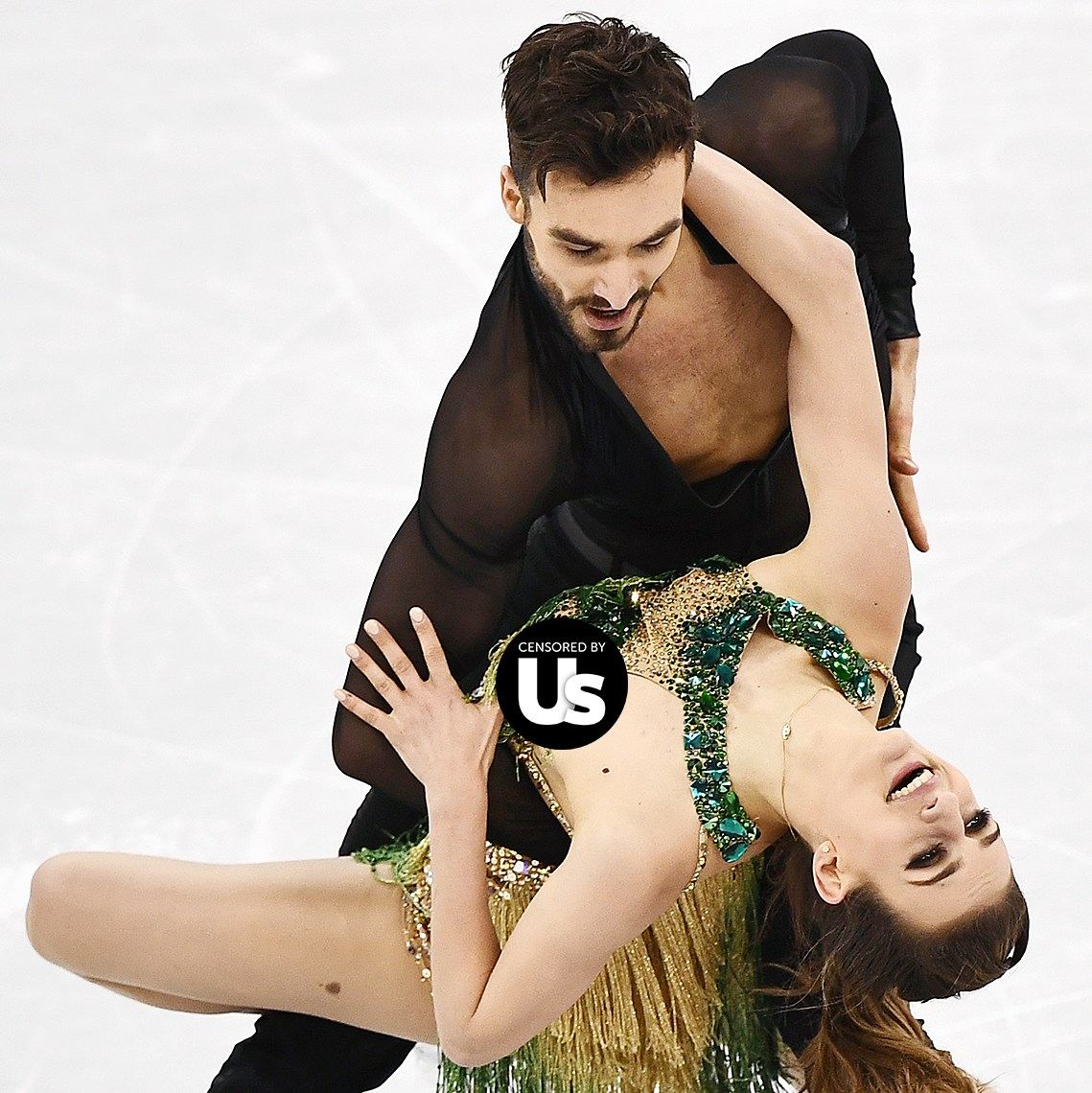 Gabriella Papadakis wardrobe malfunction Pyeongchang 2018 Winter Olympics
